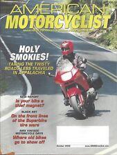 AMA Magazine October 2002 Freddie Marsh-Travel Twisty Roads in Appalachia RARE!