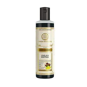 Khadi Natural Pure Herbal Amla & Reetha Shampoo Hair Cleanser, 210ml count 1