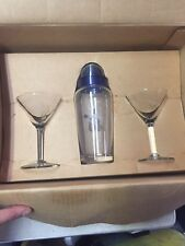 Camel Martini Shaker And Two Glasses