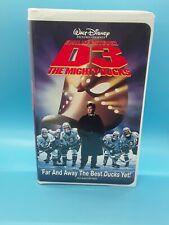 D3: The Mighty Ducks (VHS, 1997 Emilio Estevez