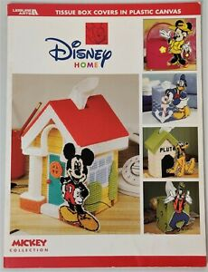 Disney Mickey & Friends Tissue Box Covers in Plastic Canvas Pattern Book