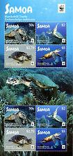 Samoa 2016 MNH Hawksbill Turtle WWF 8v M/S Turtles Reptiles Stamps