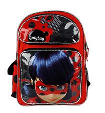 """New Nickelodeon Miraculous Ladybug 16"""" Large School Backpack"""