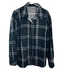RIDERS BY LEE Womens XXXL Button Front Long Sleeve Lightweight Flannel Shirt