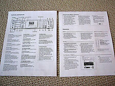 Nakamichi BX-300 / BX-300E Compact Cassette deck owners manual / guide