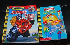 Tonka LOT Books Talkin Tools Take Charge & Jumbo Coloring / Activity Book Boys