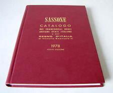 CATALOGO DEI FRANCOBOLLI DEGLI ANTICHI STATI ITALIANI E DEL REGNO...1978 SASSONE