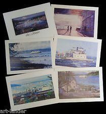 12 Marshall Johnson Gig Harbor South Puget Sound Ferry Blank Greeting Note Cards