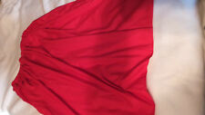ADULT HALLOWEEN PRAIRIE LONG SKIRT WITH BONNET RED