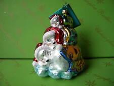 Christopher Radko Polar Ice Snaps Glass Ornament