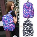 Women Girl Canvas Print Backpack Shoulder Bag Bookbag Rucksack Travel Schoo Bag