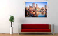 """BOSTON SKYLINE NEW GIANT LARGE ART PRINT POSTER PICTURE WALL 33.1""""x23.4"""""""