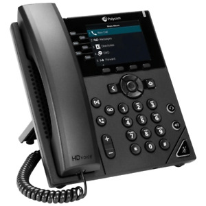 Polycom 2200-48830-025 VVX 350 6-line Desktop Business IP Phone dual Ethernet