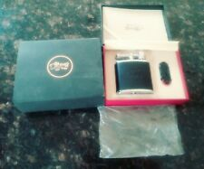 Mrs. Borg Huge Table Top Cigar Lighter. Twin Torch Flame. Black Leather