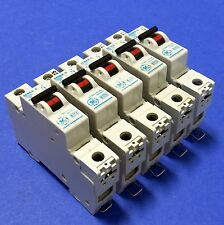 GENERAL ELECTRIC C4 4A SINGLE POLE CIRCUIT BREAKERS V/099-007104 SER. G LOT OF 5