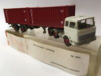 Wiking No.524 1/87 MB Mercedes-Benz Stahl Containers Cti Sattelzug in Box