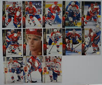 1994-95 Upper Deck UD Series 1 Washington Capitals Team Set 13 Hockey Cards