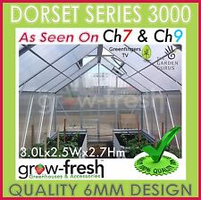 6mm ALUMINIUM POLYCARBONATE Garden GREENHOUSE Shade GREEN HOT HOUSE Shed 3.0S