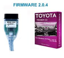 Toyota Diagnose Interface OBD2 Kabel, MINI VCI J2534, OBD Scanner Yaris V 2.0.4