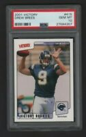 2001 Upper Deck Victory - #415 Drew Brees RC - PSA Gen Mint 10 - Chargers