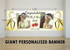 Personalised GIANT Large Congratulations Wedding Engagement Mr & Mrs Banner N65