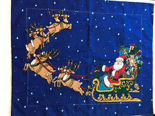 Christmas Holiday Santa Sleigh Reindeer Pillow Sham 26 x 31.5""
