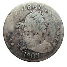 Draped bust quarter dollar 1807 rare type coin