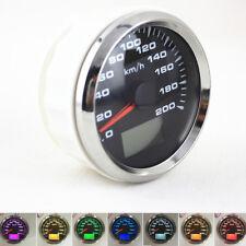 "Universal 3-3/8"" ATV 0-200 Km/h GPS Speedometer LCD Speed Odometer Trip Gauge 1x"