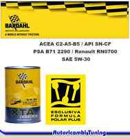 1 LITRO OLIO AUTO Bardhal Bardahl 5W30 XTA POLARPLUS SINTETICO ACEA C2 MSAPS FAP