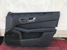 MERCEDES  W212 E63 E550 E350 FRONT RIGHT PASSENGER AMG LEATHER DOOR PANEL OEM