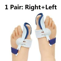 2X Big Toe Bunion Hallux Valgus Straighteners Splint Corrector Pain Relief Night