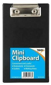 Black Mini A6 Clipboard Small Clip Board for Orders Restaurants Pubs Bars Sudoku