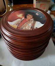 The Bradford Exchange-Set Of 8 L.E. Elvis Presley Commemorative Plates W/Frames