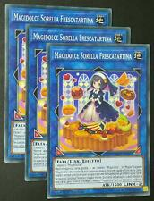 Set 3X  MAGIDOLCE SORELLA FRESCATARTINA Comune in Italiano  FLOD-IT097 YUGIOH