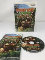 Nintendo Donkey Kong Country Returns COMPLETE with Manual (Nintendo Wii, 2010)