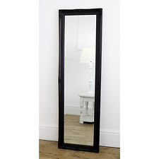 "Cannes Black Shabby Chic Full Length Antique Dress Mirror 16"" x 52""  Medium"