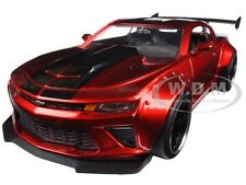 2016 CHEVROLET CAMARO SS WIDE BODY W/ GT WING CANDY RED 1/24 MODEL BY JADA 98136
