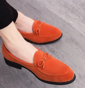Mens Shoes Casual Loafers Velvet Plus Round Toe Flat Heels Fashion Comfort 38-47