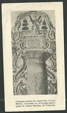 Estampa antigua de San Vicente Martir andachtsbild santino holy card santini