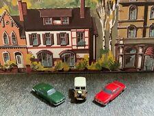Suitable Marklin spur z scale/gauge. Metal Land Rover & 2 MK 10 Jaguars.
