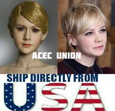 KUMIK Carey Mulligan 1/6 Head Sculpt For Hot Toys Phicen Body - U.S.A. SELLER