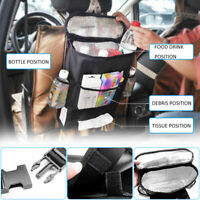 Black Car Back Seat Organiser Storage Insulated Lunch Bag Box Kids Picnic Travel