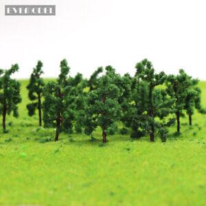 100pcs HO Scale Model Tree Roadside Green 1:87 Tree 3.8cm Model Train Layout