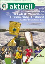 DFB grandiosi 28.05.2005 + FC Schalke 04 vs. FC Bayern München + rivista RAR