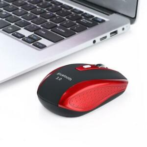 Ergonomic Wireless Bluetooth3.0 Optical Mouse For Mac Windows Android Red