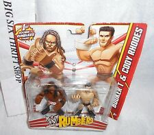 WWE Action Figures Rumblers Booker T and Cody Rhodes Action Figure Mattel 2 Pack