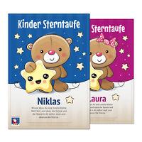 Weihnachten Geschenk Junge Mädchen - Sterntaufe für Kinder, Baby, Neugeborene