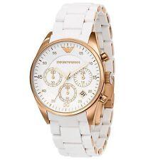 Emporio Armani Ar 5919 White Sportivo Chronograph Wrist Watch for Men