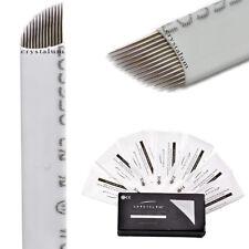 Microblading Needles Blades 14Pin PROx10 Makeup Tattoo Manual Eyebrow CRYSTALUM