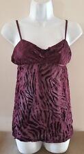 NWT Victoria's Secret Sexy Wine on Wine Burnout Nightie Short Gown w/Silk Sz M